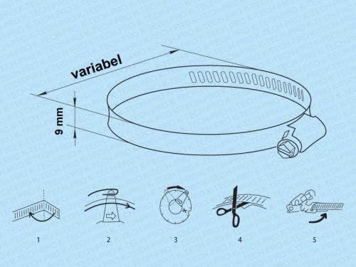 Universal Schlauchschelle Band Rolle Ausf/ührung Universal-Schlauchschellen Set