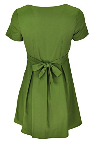 Goldkidlondon - Robe - Patineuse - Manches Courtes - Femme Vert Vert