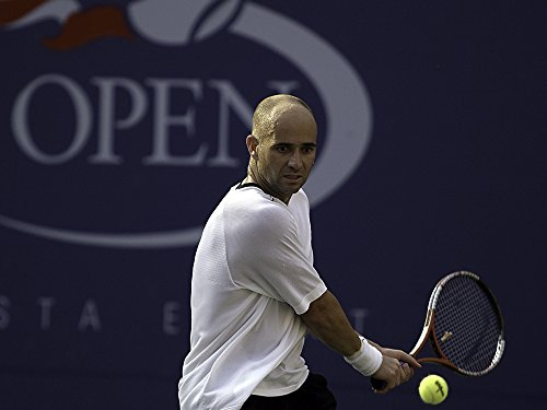 2ed5abd0c1716 Posterazzi Poster Print Collection Andre Agassi at The US Open Photo Print  (10 x 8), Multicolored