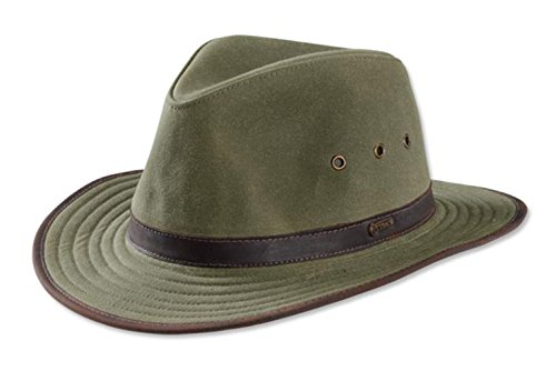 (Orvis Oilcloth Outback Hat, Sage, Medium)