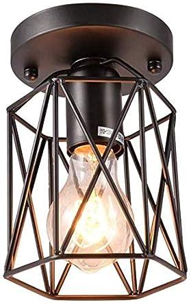 Lámpara de techo empotrada industrial retro vintage, mini lámpara ...