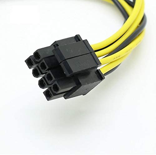 Cable Length: 0.2m, Color: 8pin to 2 sata Cables /& Connectors Dual SATA 15pin to 8pin Graphic Card Power Adapter Cable 20cm PCIE SATA Power Supply Cable 8p to SATA for Bitcoin Miner Mining