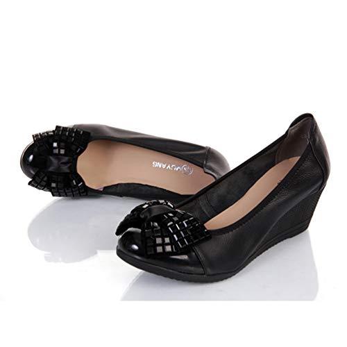 Travail Femmes Talons Noir En Simple Cuir Hauts Mode Casual Chaussures Escarpins Coin De Confortables wwqA6R
