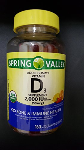 SPRING VALLEY D3, 2000IU, 160 GUMMIES (Spring Valley Marketplace)