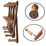 OROPY Wooden Expandable Coat Rack Hanger, Wall