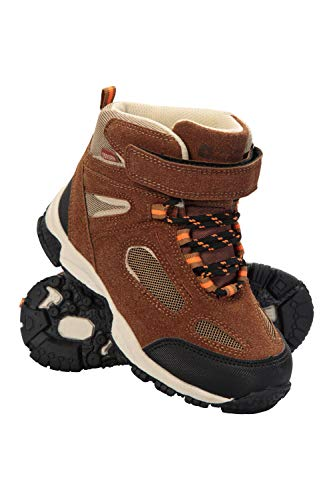 Mountain Warehouse Forest Junior Waterproof Boots - Kids Rain Shoes Brown 11 Child US