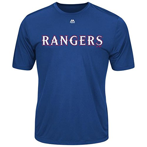 (Texas Rangers Youth Small Wicking MLB Licensed Authentic Replica Crewneck T-Shirt)