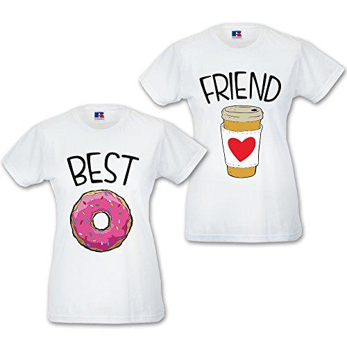 You Di Donut Coffee Bianche Friend Coppia And Shirt T Magliette Me Love Best XUwxpRqw