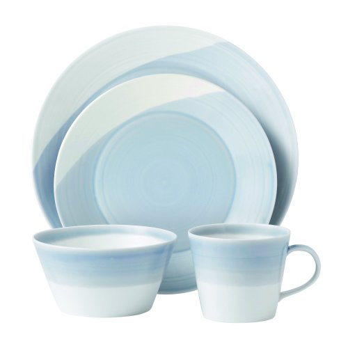 Royal Doulton 1815TW25069  Dinnerware Set, Blue, 4-Piece