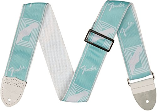 """Fender 2"""" Monogrammed Guitar Strap - Daphne Blue"""