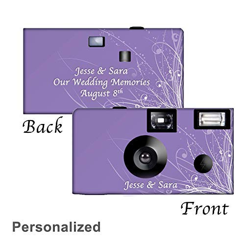 5 Graceful Waves Custom Disposable Cameras, Can be Personalized, Wedding, Party
