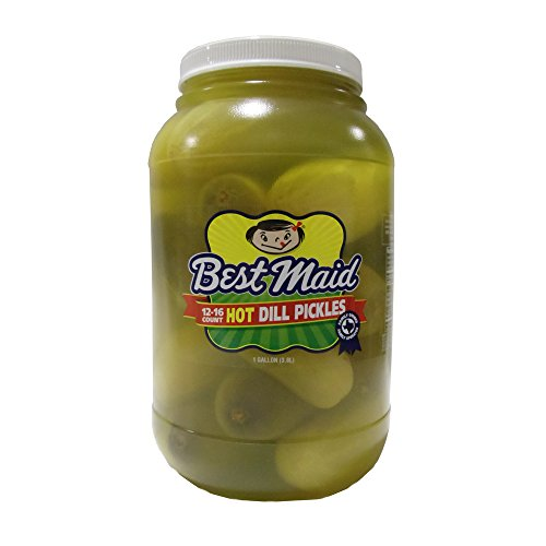 Whole Dill Pickles - Best Maid Whole Hot Dill Pickles 1gal