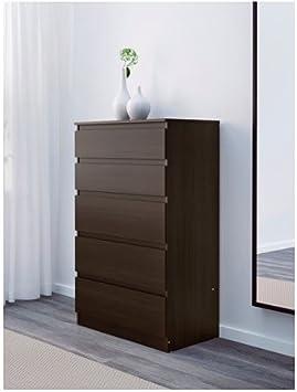 IKEA KULLEN – Cómoda de 5 cajones, marrón, 70 x 112 cm: Amazon.es: Hogar