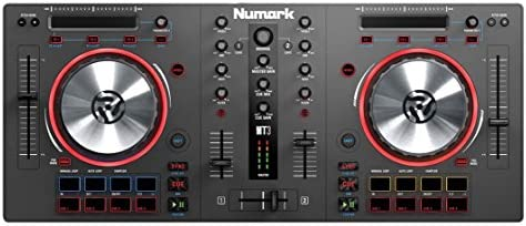 Numark Mixtrack 3 | All-In-One 2-Deck DJ Controller for Serato DJ Including  an Long-Throw Pitch Faders, 5-inch High Resolution Jog Wheels and Virtual