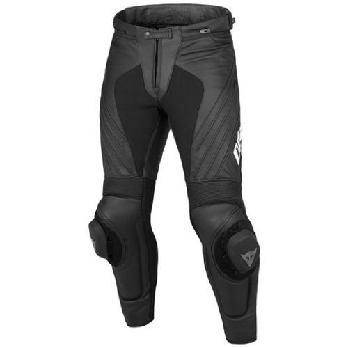 Dainese Delta Pro Evo C2 Perforated Leather Pants (Euro 58/ US 48, Black/Black)