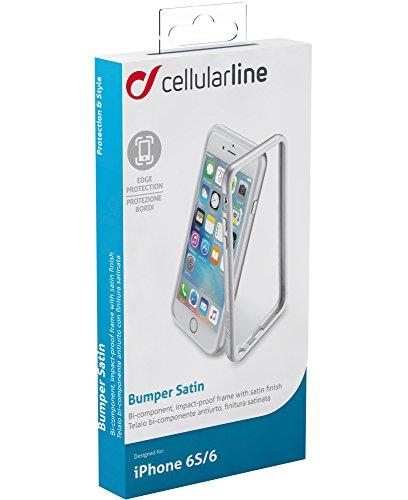 CELLULAR LINE CBUMPSATINIPH647S Anti-Schock Bumper Satin Band für Apple iPhone 6/6S (11,9 cm (4,7 Zoll)) silber