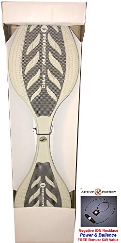 White Razor RipStik Air PRO Team Caster/Wave Board + Bonus: Active Energy Power Balance Necklace $49 Value
