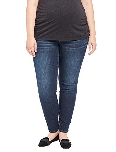 Motherhood Plus Size Secret Fit Belly Jegging Maternity Jeans,Amarello Wash,1X Plus