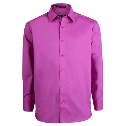 Pierre Cardin Mens Slim Fit Shirt (Raspberry, 16-16.5 (34/35)) by Pierre Cardin
