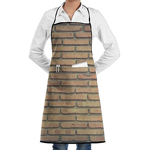 (ABOUtshoc Kitchen Bib Apron for Women Men Durable Chef Apron for Cooking,Grill and Baking,Adjustable 100% Polyester with Pocket )