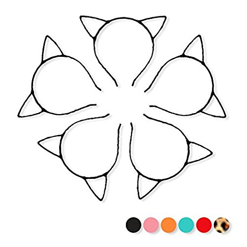 Cat Ear Headband,Hair Band Hair Hoop for Halloween Cosplay Party, Pack of 10 (Black) for cheap