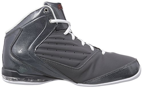 And1 Master 2 Mid Heren Basketbalschoenen (12 D (m) Us, Asfalt / Wit-oranje)