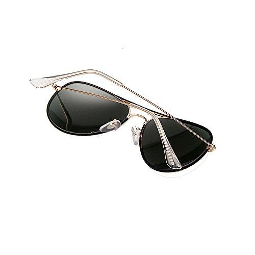 Sol Gafas Mujer Frame VS003 VeBrellen de Aviador Black Polarizadas para UV400 Protección 6Snng7IWwq