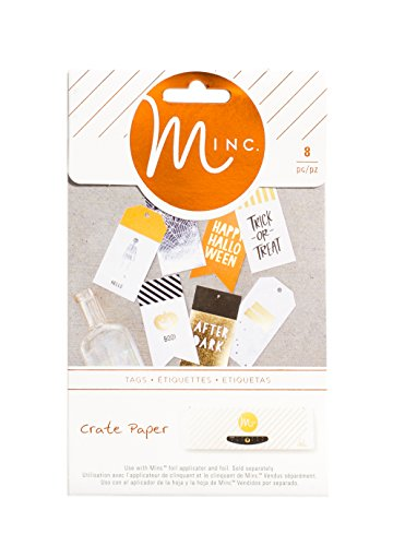 Heidi Swapp 680286 Crate Paper 8 Piece After Dark Minc Foil-Ready Tags -