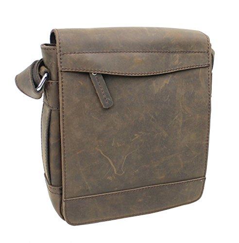 Vagabond Traveler TRIPPER - 9.5'' Leather High Fashion Satchel Bag L72. Distress by Vagabond Traveler