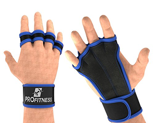 ProFitness Weightlifting Gloves wodies Gloves Women Weight Lifting Gear for Men Gloves Weight Lifting Gloves with Wrist Straps Hand Out Gloves Wheelchair Gloves for Men (Royal Blue, X-Small)