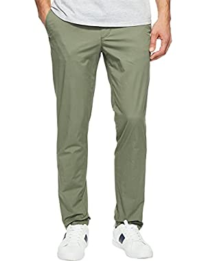 Mens Slim Fit Stretch Cotton Twill Trousers