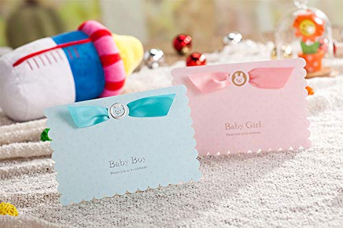 Card Holder Stays Free - 2017 Baby Birthday Invitation Cards With Cute Boy Car And Blue Ribbon Shower Greeting Crad Cw5302 - Kid Die Baby Happy 3d Lace Birthday Cut Children Laser
