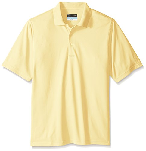 PGA TOUR Men's Big and Tall Short Sleeve Airflux Solid Polo Shirt, Pale Banana, 4X