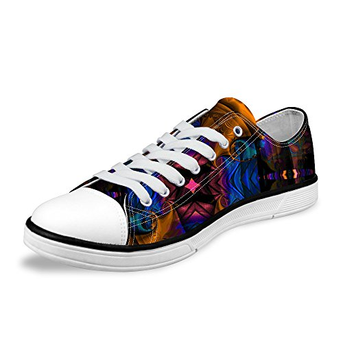 syssjcyg Fashion-Sneakers 3D Printed Artistic Paintings Full of Individuality Pattern Canvas Shoes for Women.