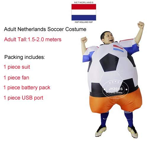 World Cup Russia Football Player Inflatable Costume Ball Suit Halloween Costum