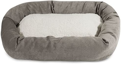 Majestic Pet Fern Villa Sherpa Bagel Bed