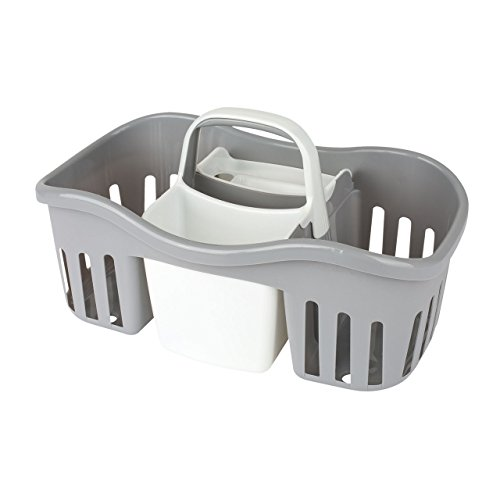 Casabella Day Night Caddy Grey White