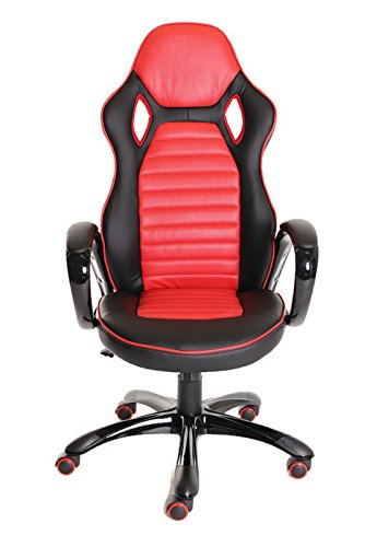 41Xkhw6oxIL - Race-Car-Style-Bucket-Seat-Office-Chair-Gaming-Ergonomic-Leather-Chair-by-TimeOffice