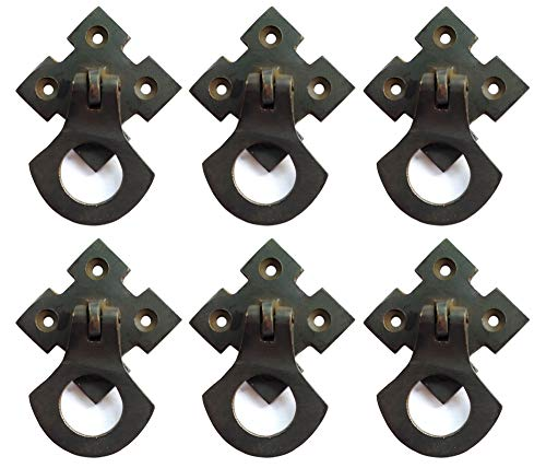 Mission Style Dresser - Nesha Design Components Arts and Crafts Mission Style Ring Pulls Hardware Oil Rubbed Bronze (6 Pack)