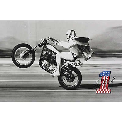 (24x36) Evel Knievel- Wheelie Poster by Poster - Palace Caesar Stores