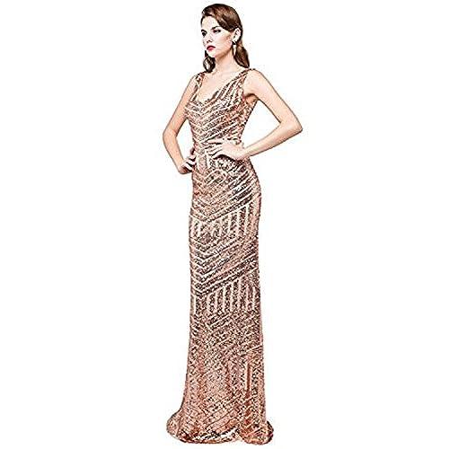 Rose Gold Sequin Bridesmaid Dress: Amazon.com