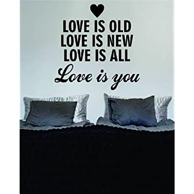 Love is You The Beatles Quote Decal Sticker Wall Vinyl Music