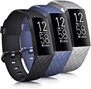 Tobfit Band Compatible with Fitbit Charge 4 Bands & Fitbit Charge 3 Bands, Classic Sport Wristbands Access
