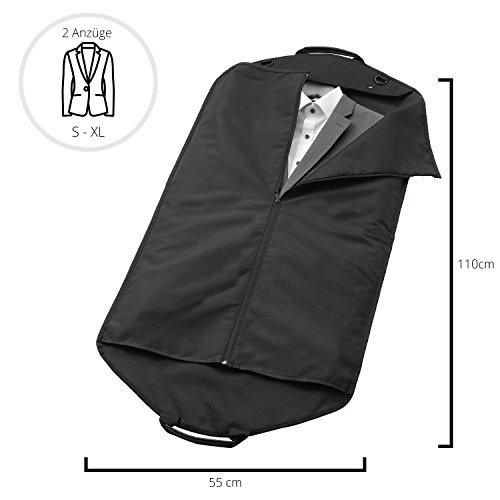 ALPAMAYO® Anzugtasche, Kleidersack mit Tragegriff für saubere und knitterfreie Anzüge und Hemden auf Reise. Business-Kleidertasche, optimal für Handgepäck im Flugzeug auf Flugreisen, schwarz