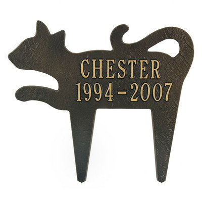 Silhouette Cat Memorial Marker Finish: Bronze and Gold