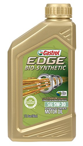 Castrol 06555 Edge Bio Synthetic 5W 30 Advanced Full Synthetic Motor Oil  1 Quart  6 Pack