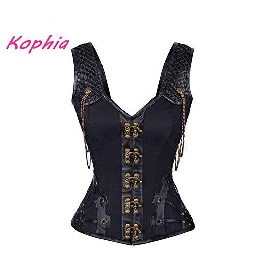 Ladies/' Twelve Steel Boned Shapewear Vest Steampunk Bustier Sleeveless Corset