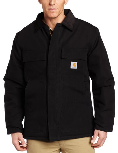 Carhartt Men's Big & Tall Arctic Quilt Lined Duck Traditional Coat C003,Black,XXX-Large