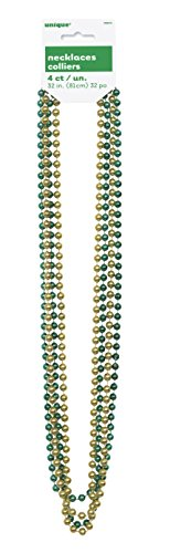 Metallic Gold Green Bead Necklaces