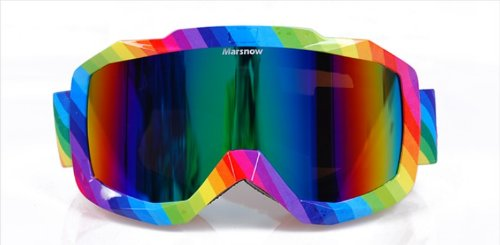 Multifunctional Double Lenses, Professional Rainbow Snow Goggles, Uv Protective, Anti-fog, for All Sports Glasses, with Brand Glasses Box,101